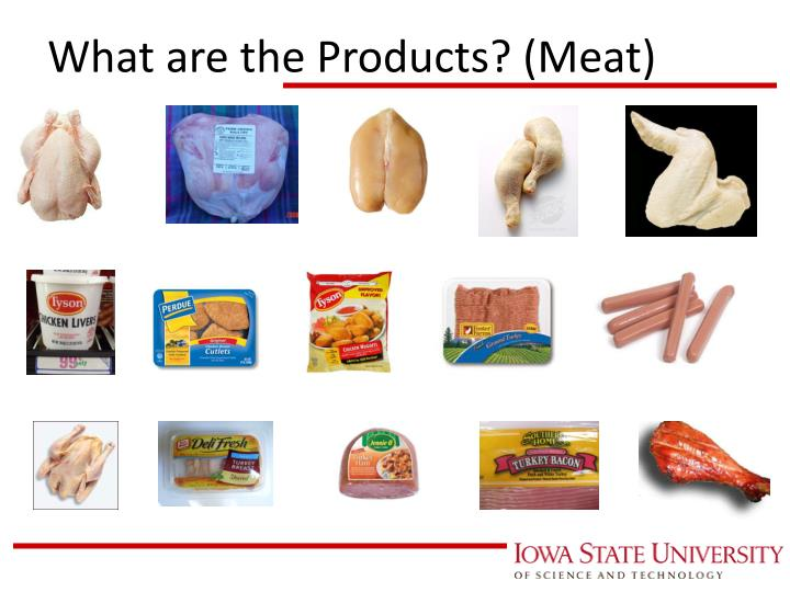 What are the Products? (Meat)