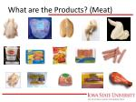 what are the products meat