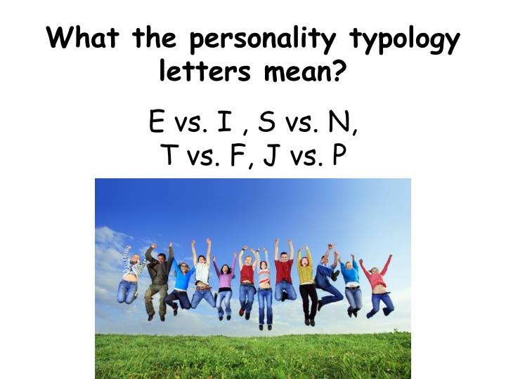 What the personality typology letters mean