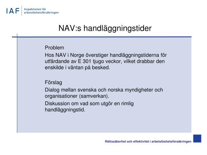 NAV:s handläggningstider
