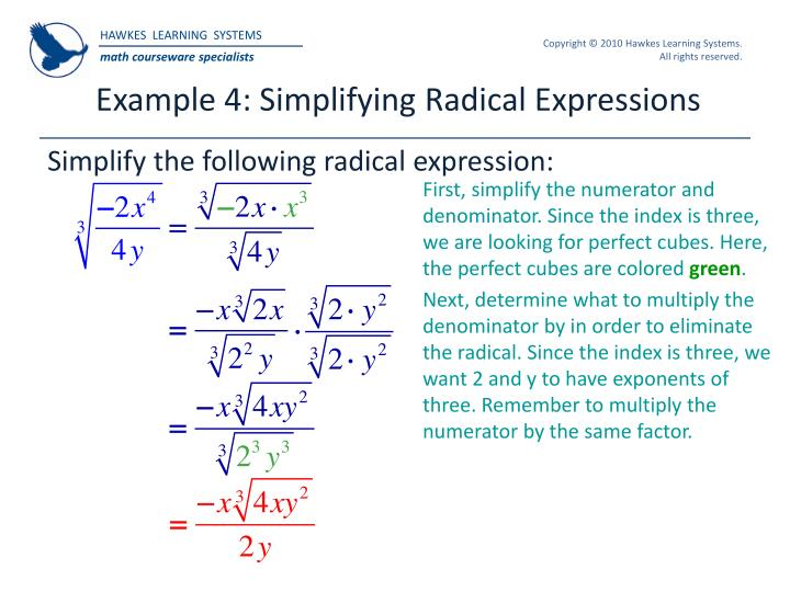 Example 4: Simplifying Radical Expressions