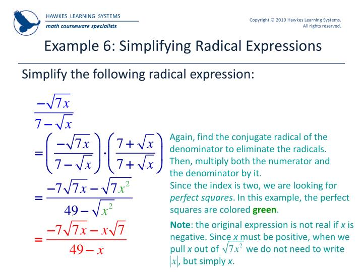 Example 6: Simplifying Radical Expressions