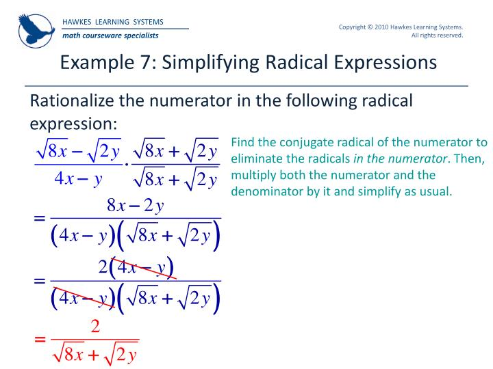 Example 7: Simplifying Radical Expressions