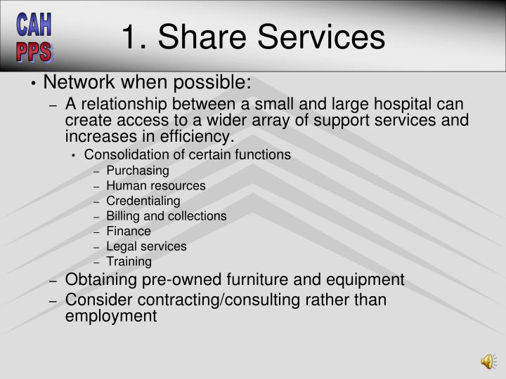 1. Share Services