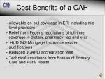 cost benefits of a cah