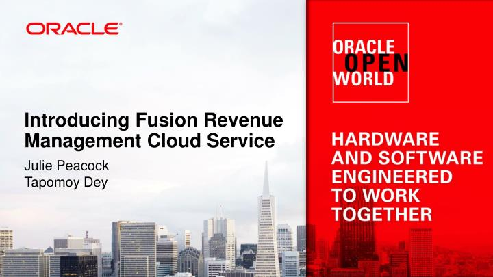Introducing Fusion Revenue Management Cloud Service