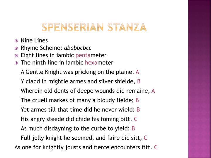 Spenserian Stanza