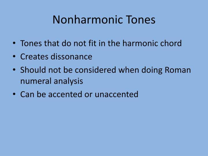 Nonharmonic