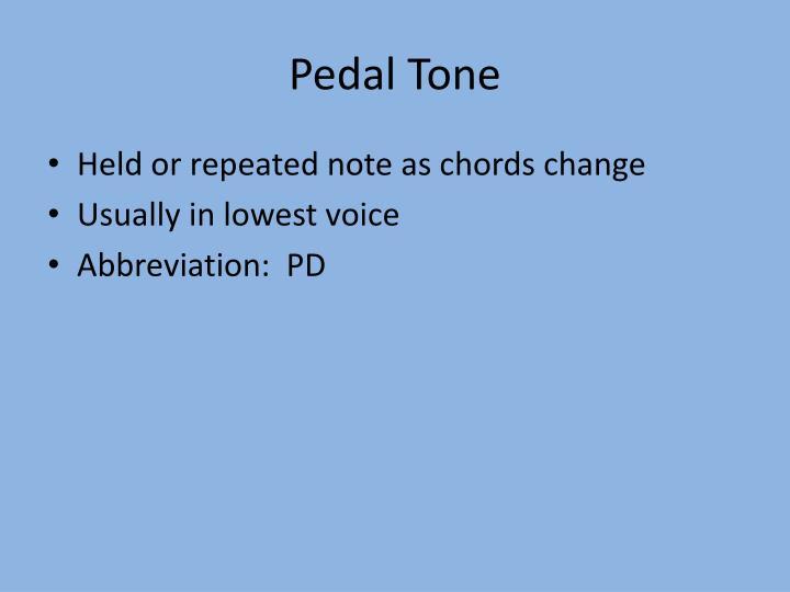 Pedal Tone