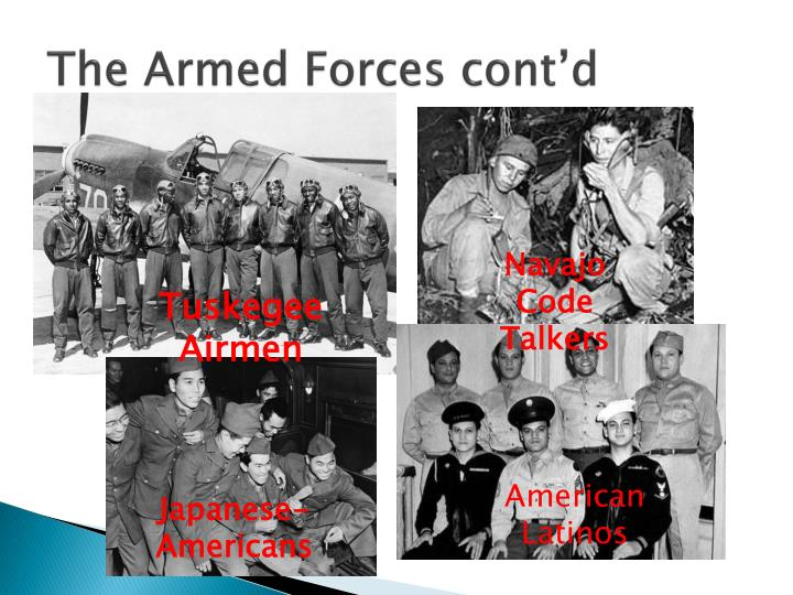 The Armed Forces cont'd