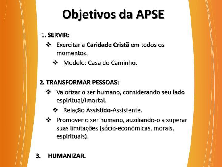 Objetivos da APSE