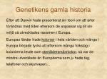 genetikens gamla historia