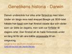 genetikens historia darwin