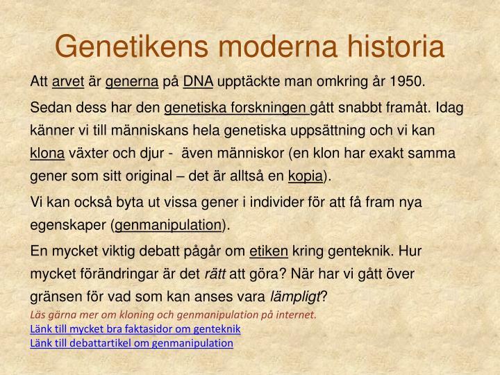 Genetikens