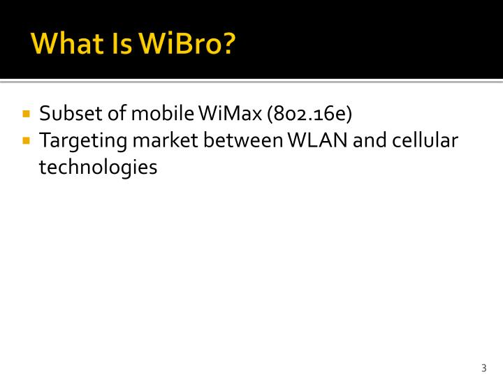What is wibro
