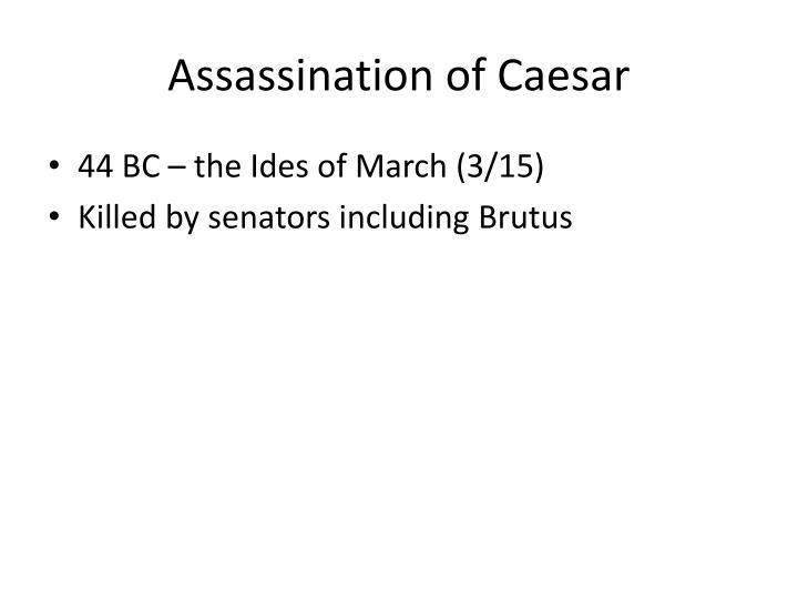 Assassination of Caesar