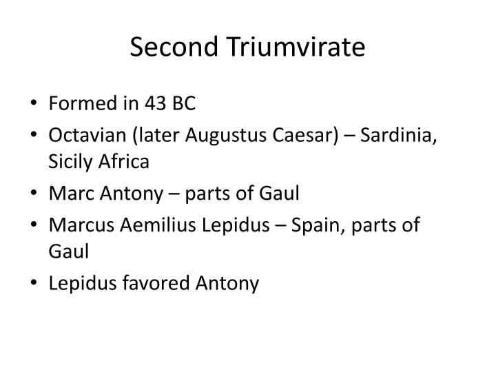 Second Triumvirate