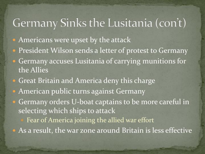 Germany Sends Letter To America