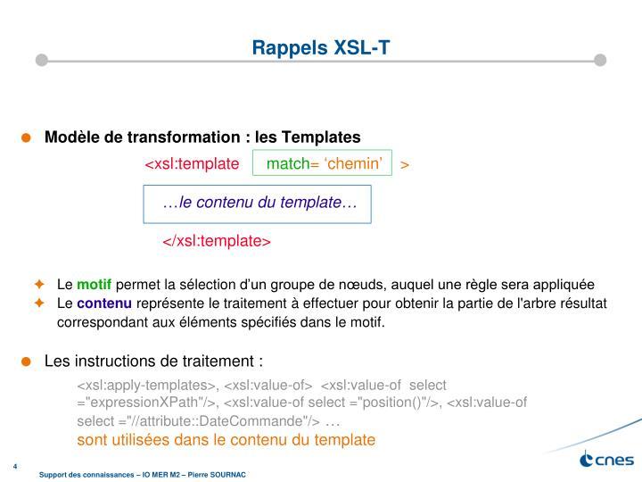 Rappels XSL-T