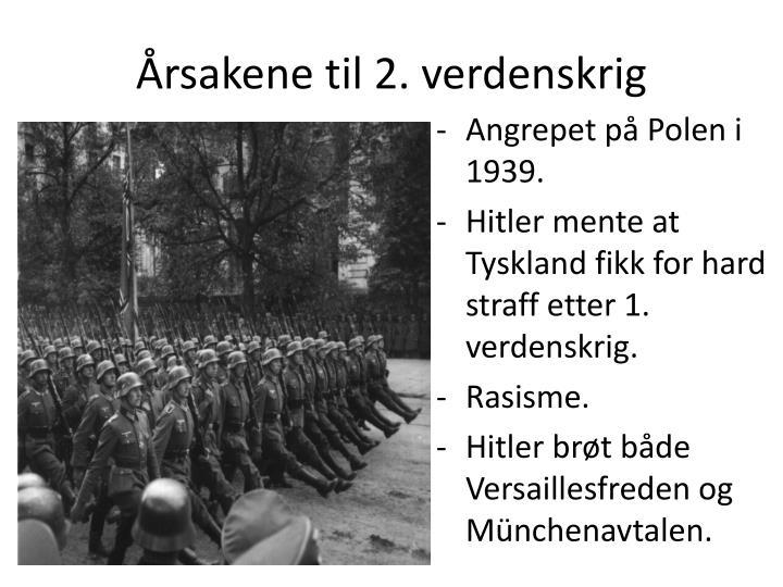 Årsakene til 2. verdenskrig