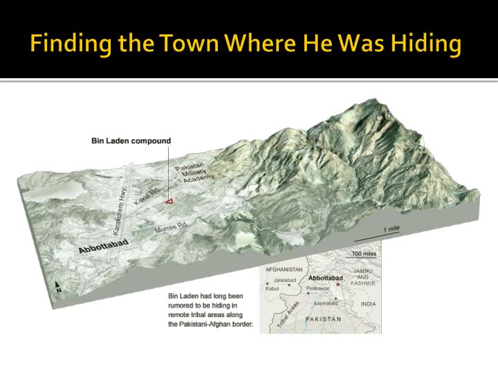 Finding the Town Where He Was Hiding