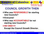 council growth then