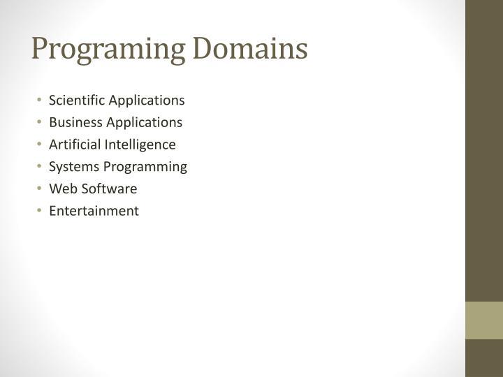 Programing Domains