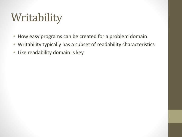 Writability