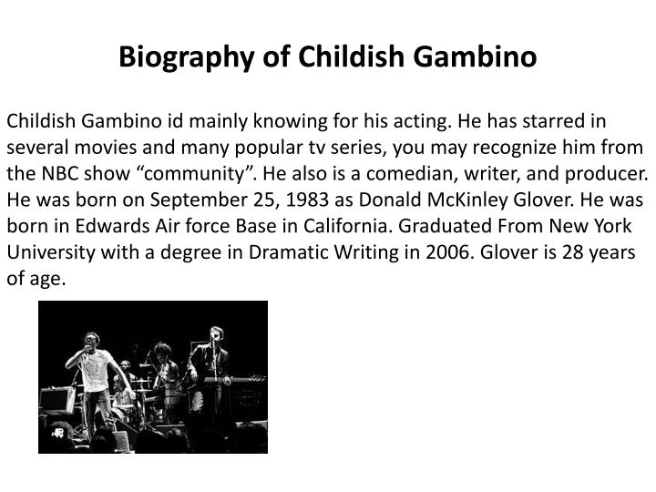 childish gambino think of me - photo #26