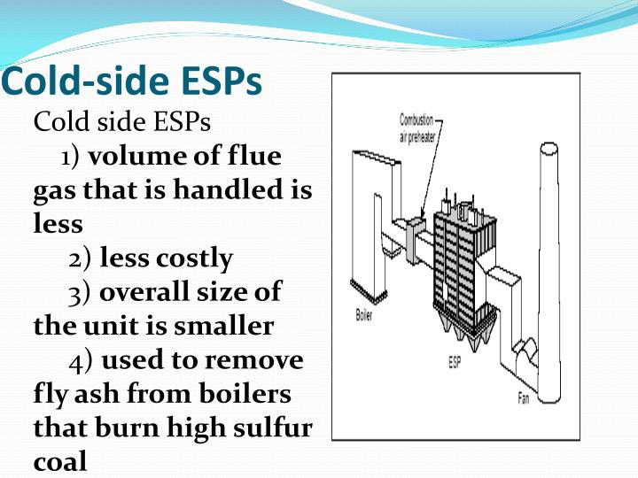 Cold-side ESPs