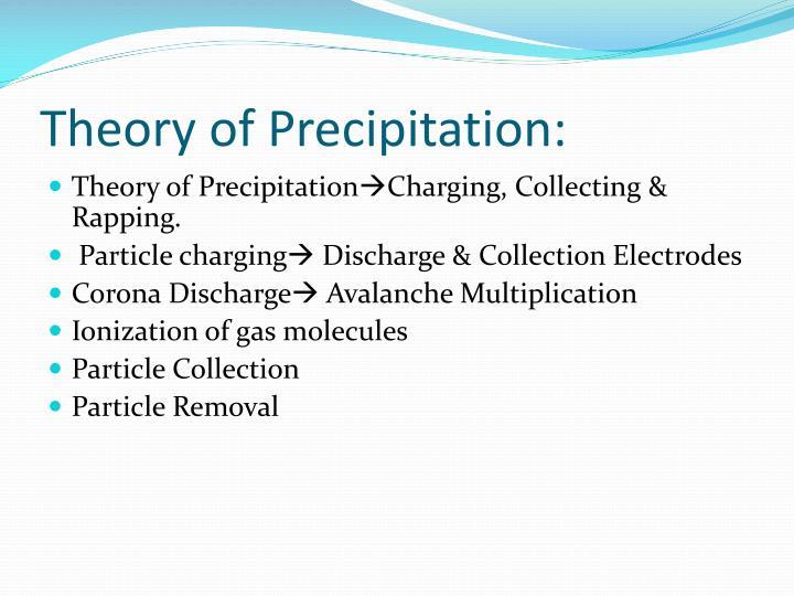Theory of Precipitation: