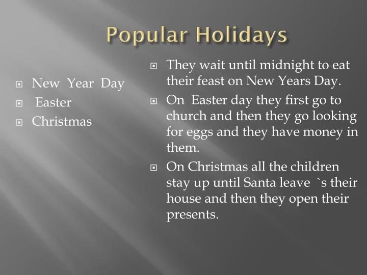 Popular Holidays