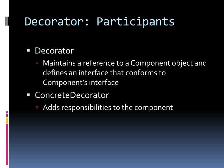 Decorator: Participants