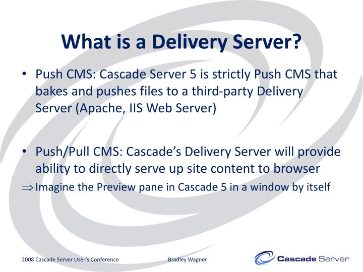 What is a Delivery Server?