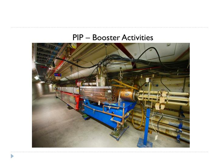 PIP – Booster Activities