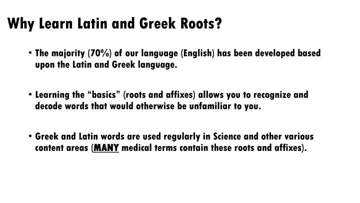 Learn Latin Roots 6