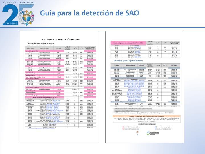 Guía para la detección de SAO