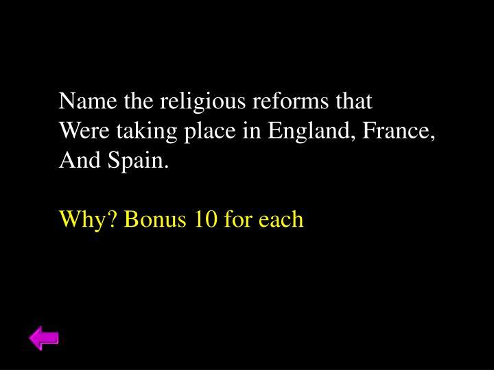Name the religiou