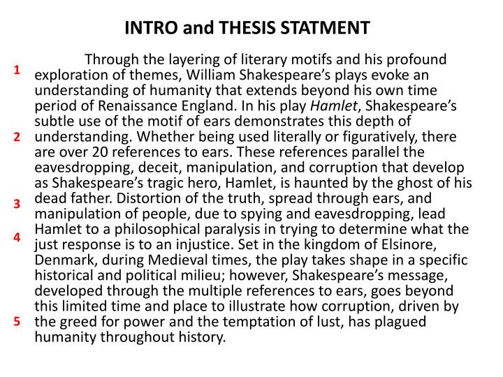 literary analysis of shakespeares hamlet essay Shakespeare's hamlet, after four centuries, is still the most experimental play ever written, literary critic and yale university professor harold bloom argued before a capacity library audience in march.