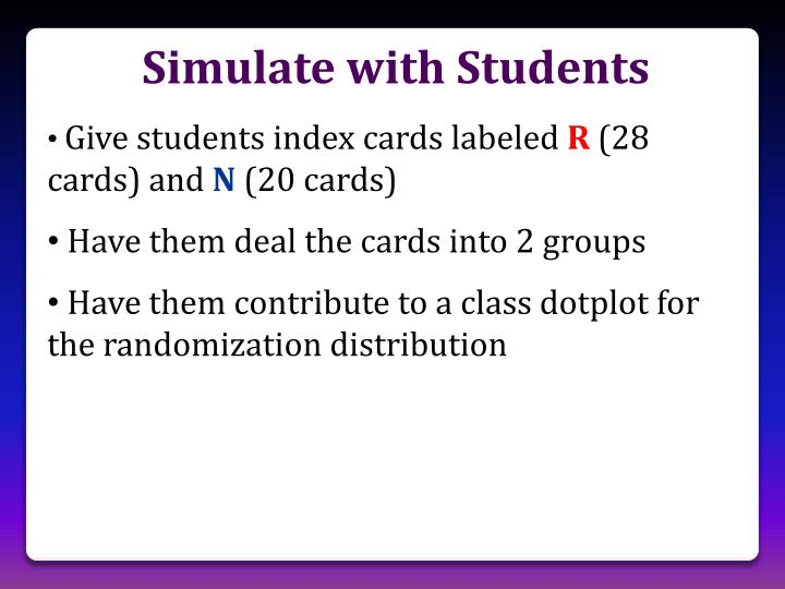 Simulate with Students