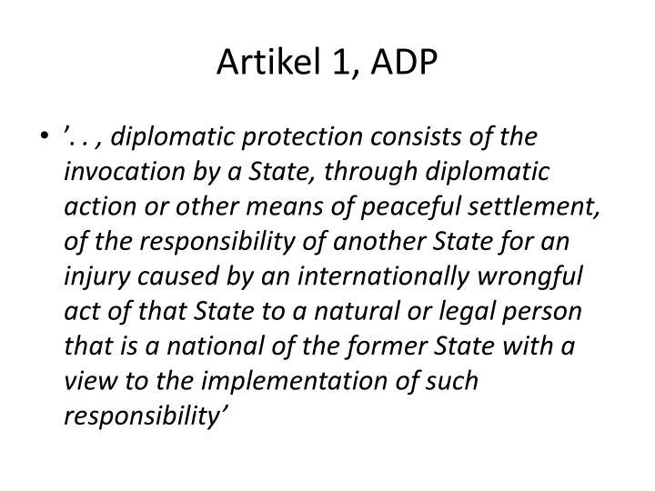 Artikel 1, ADP