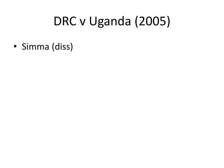 DRC v Uganda (2005)