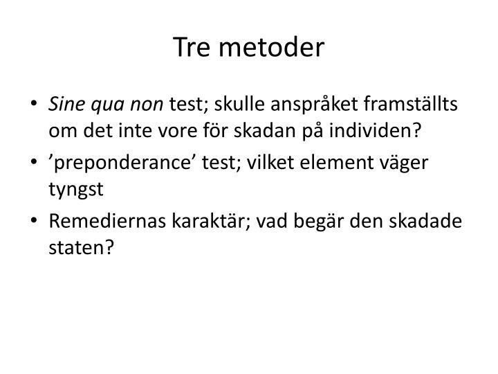 Tre metoder