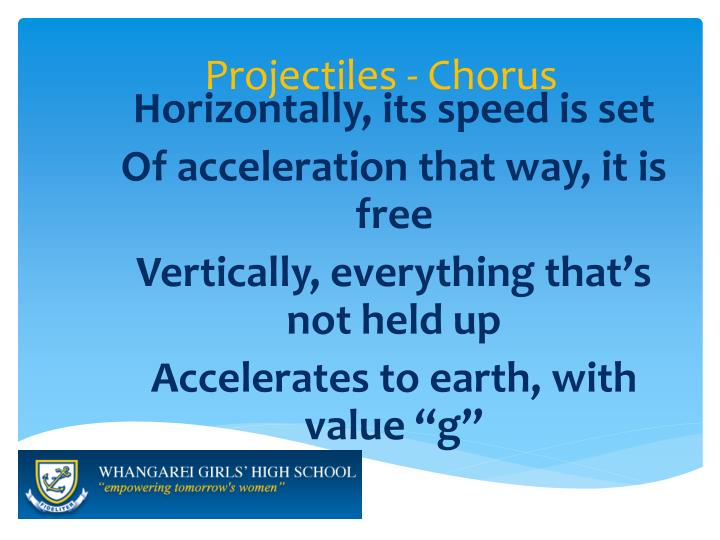 Projectiles - Chorus