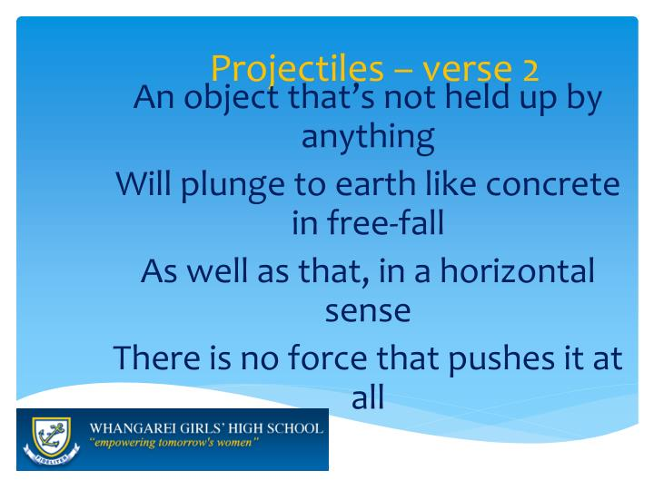 Projectiles – verse 2