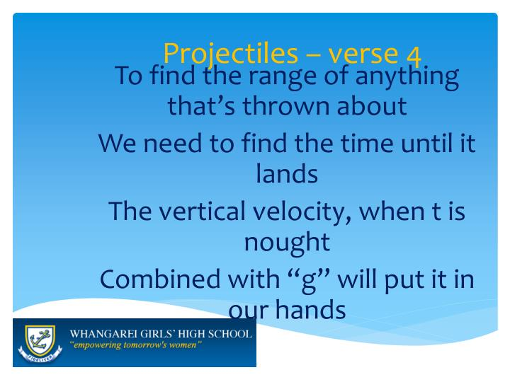 Projectiles – verse 4