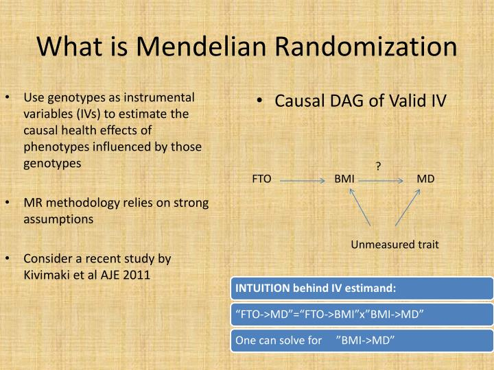 What is mendelian randomization