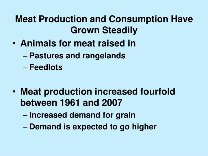 Meat Production and Consumption Have Grown Steadily