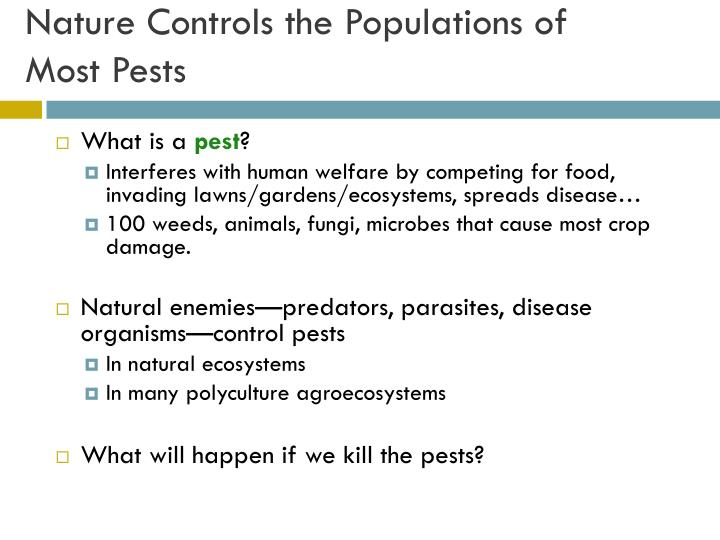 Nature Controls the Populations of