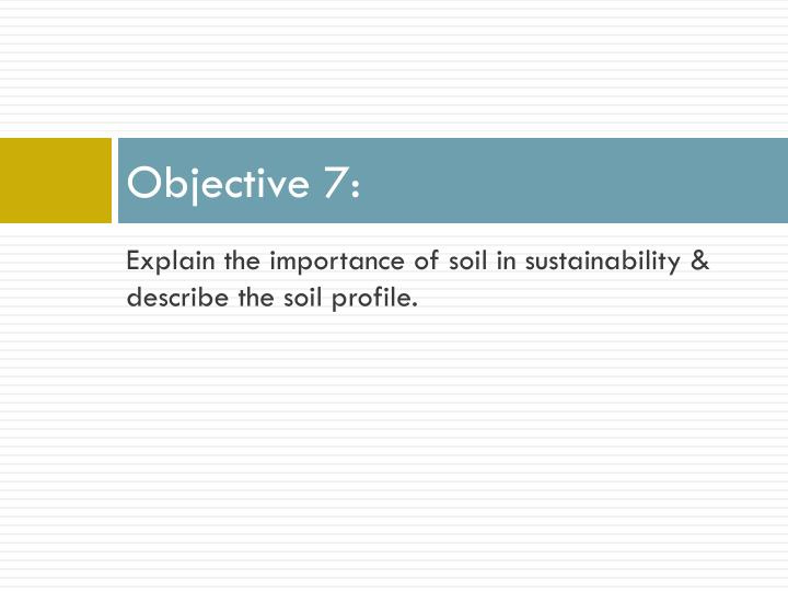 Objective 7: